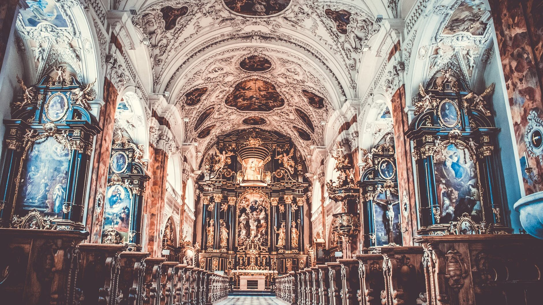 cathedral interior view
