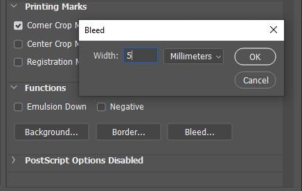 add bleed