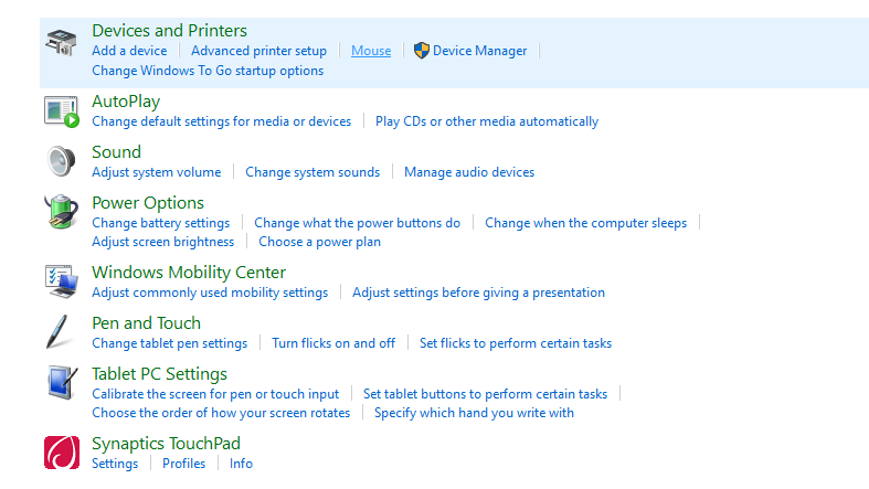 change mouse dpi windows 10: Devices and printers select mouse