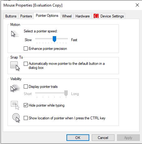 change mouse dpi windows 10: mouse DPI sensitivity slider