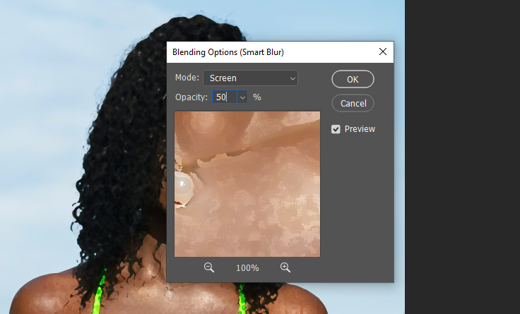 change the blending mode to screen and reduce the opacity to 50