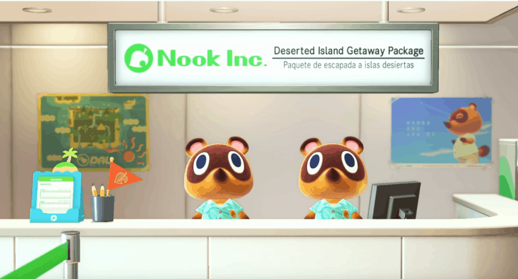 graphic design signs and assets in animal crossing game