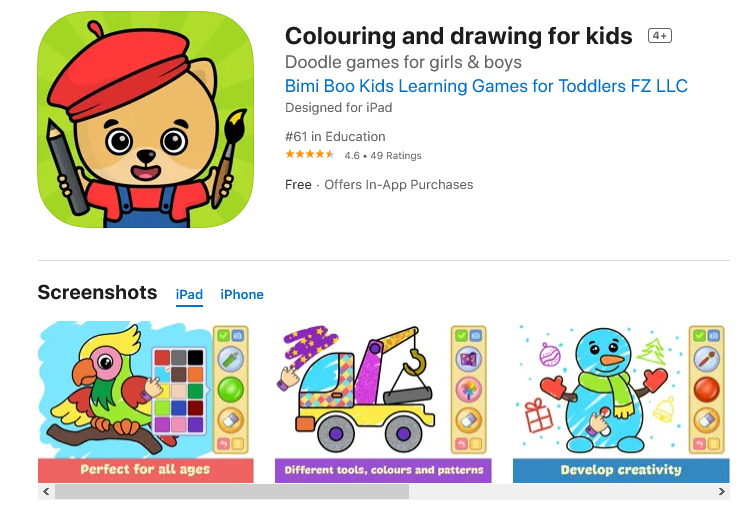 Colouring and drawing for kids