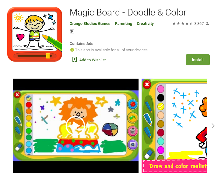 Magic Board - Doodle & Color (Free: Android)