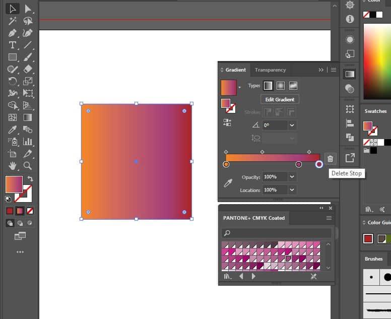 delete gradient stop