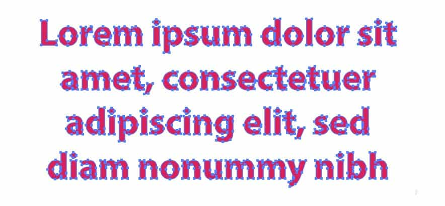 Example of Expanded text. Why and when to use Expand in Illustrator
