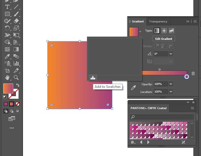 save your gradient to your swatches