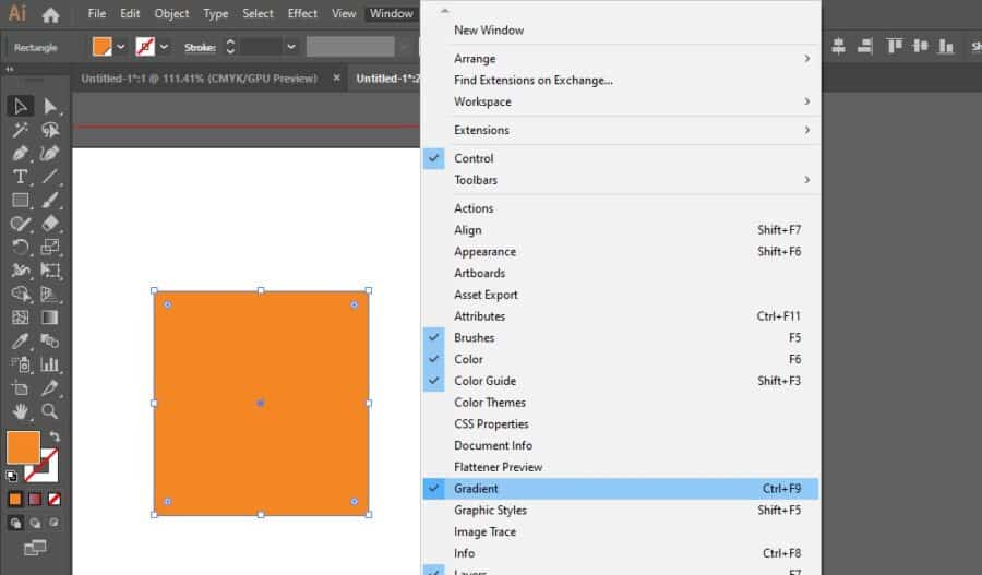 """Window>Gradient""""></li><li>Drag a swatch from your Pantone Swatch Panel (window>swatch libraries>color book) to the gradient slider bar in the Gradient Panel. <img loading="""